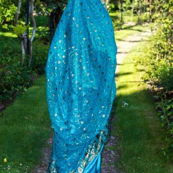 Jilbab Bollywood vert émeraude