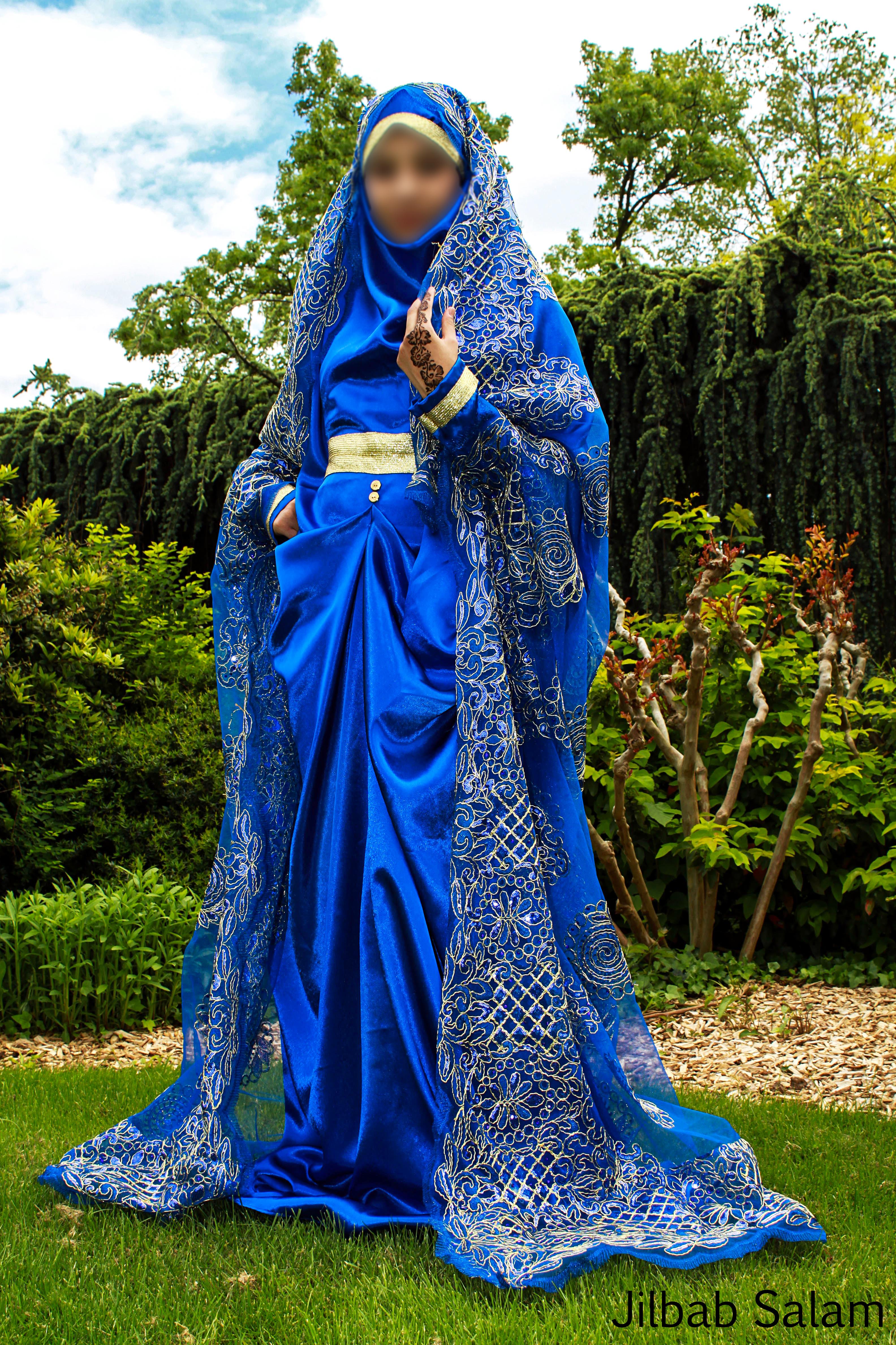 jilbab bleu roi - Jilbeb Mariage